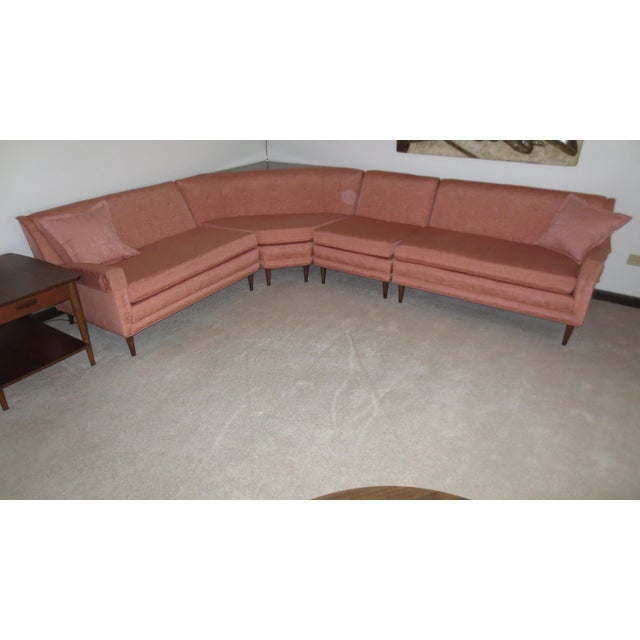 Mid 1960s 4-Piece Sectional with Corner Table - Set of 5 - Image 3 of 5