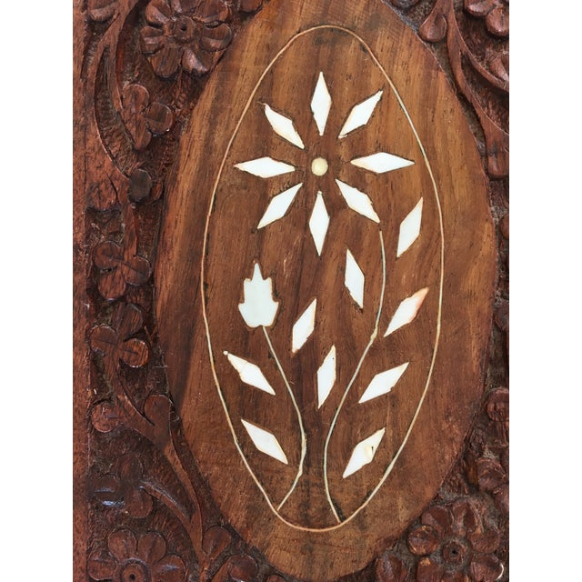 Brown 1960s Vintage Hand Carved Wooden Box For Sale - Image 8 of 12