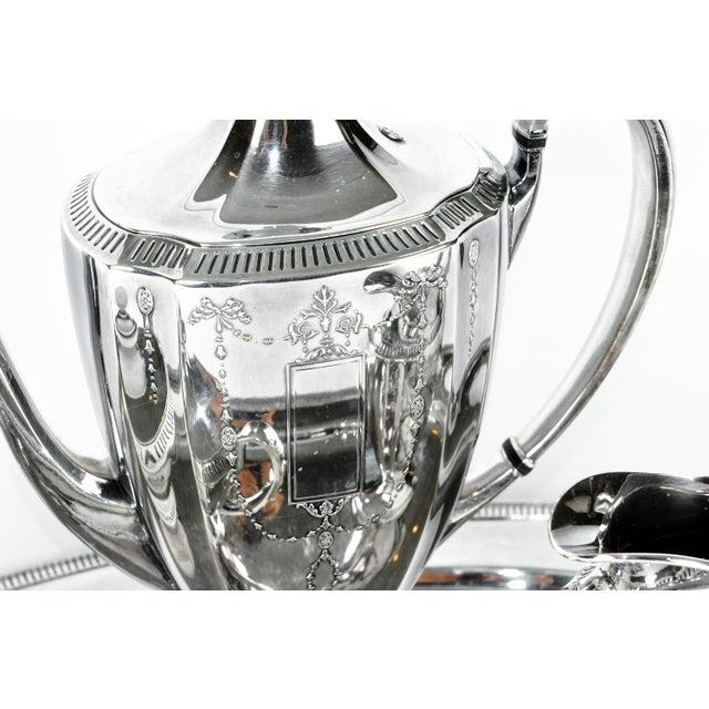 English Traditional Silver Plate USA Tea & Coffee Set of 4 For Sale - Image 3 of 9