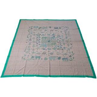 Vibrant Boho Chic Handmade Textile/Throw For Sale