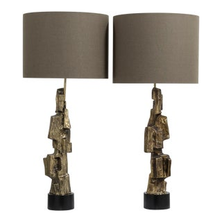 Superb Pair of Maurizio Tempestini Designed Table Lamps 1970s