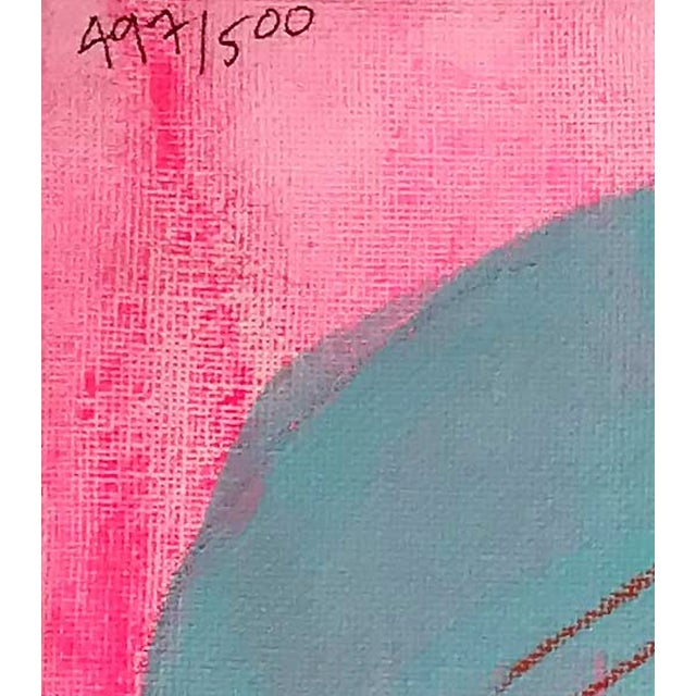 """Acrylic Paint Contemporary Abstract Portrait Painting """"Let's Have Some Fun"""" - Framed For Sale - Image 7 of 8"""