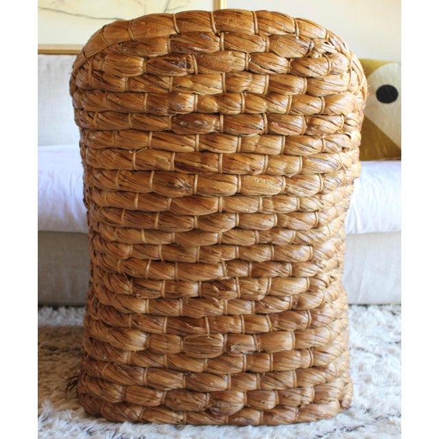 Adirondack Organic Modern Ralph Lauren Joshua Tree Woven Natural Lampakanay Fiber Barrel Lounge Chair For Sale - Image 3 of 9