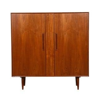 Danish Modern Gentleman's Chest / Tall Dresser in Teak