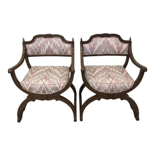 Moroccan Boho-Style Peacock Chairs - A Pair