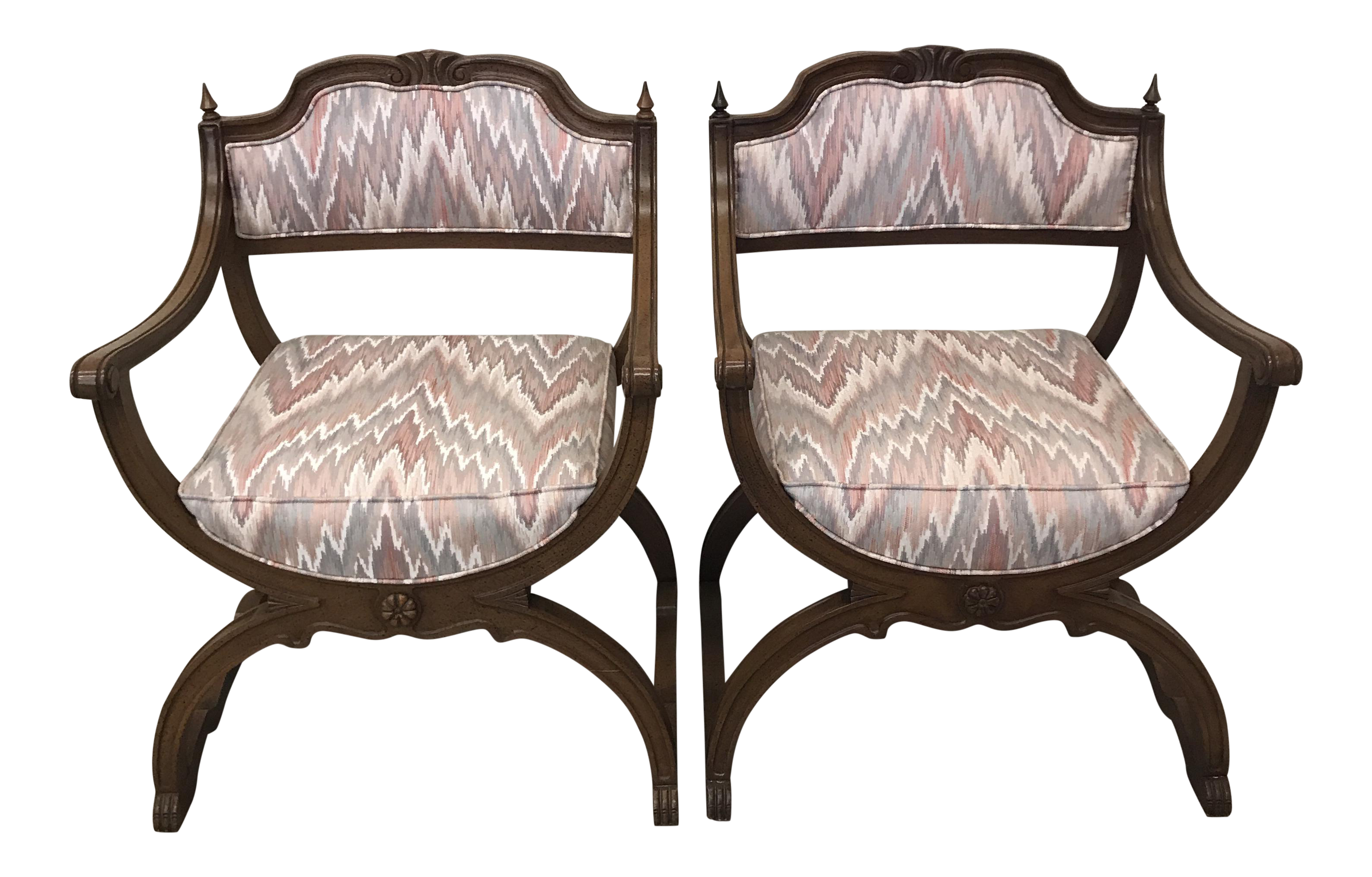 Moroccan Boho Style Peacock Chairs   A Pair