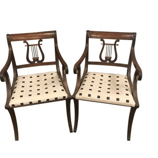 Mid 19th Century Phyfe Lyre Back Chairs - a Pair For Sale
