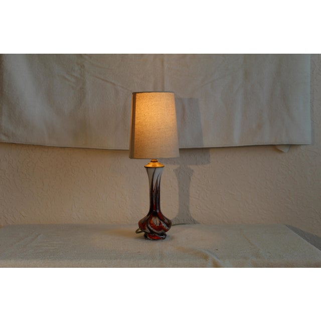 1960s Mid Century Modern Petite Murano Table Lamp For Sale - Image 5 of 9