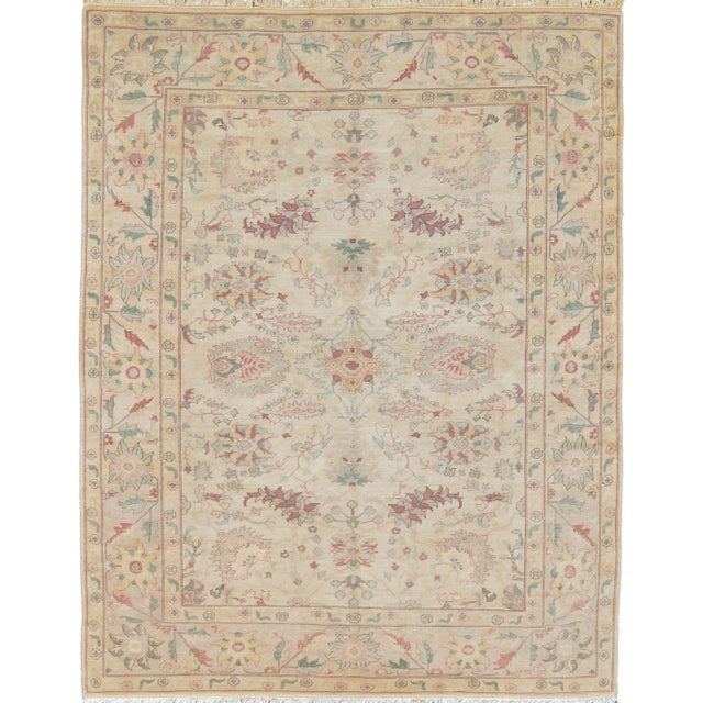 Islamic Mansour Fine Handmade Agra Rug For Sale - Image 3 of 3