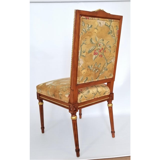 1960s Vintage Louis XVI French Directoire Style Chair For Sale - Image 4 of 13