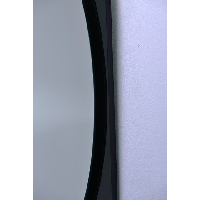 Cristal Art Oval Mirror With Black Glass Base For Sale In Detroit - Image 6 of 11