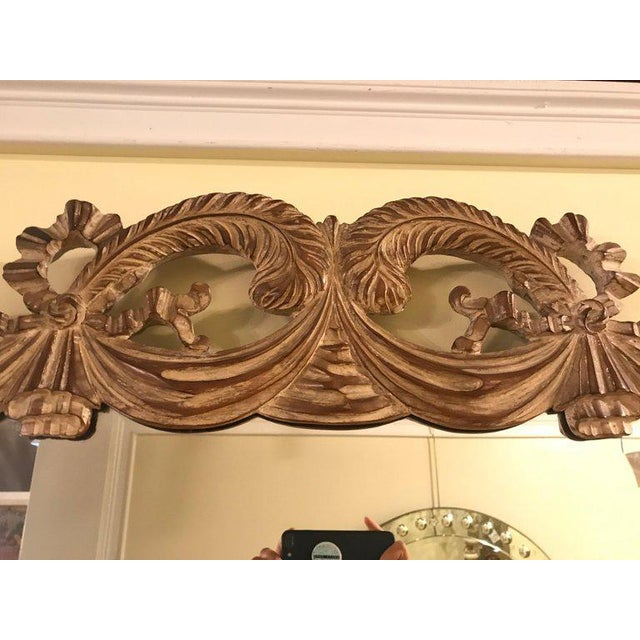 Glass Compatible Hollywood Regency Grosfed House Ribbon and Tassle Form Mirrors, Pair For Sale - Image 7 of 13