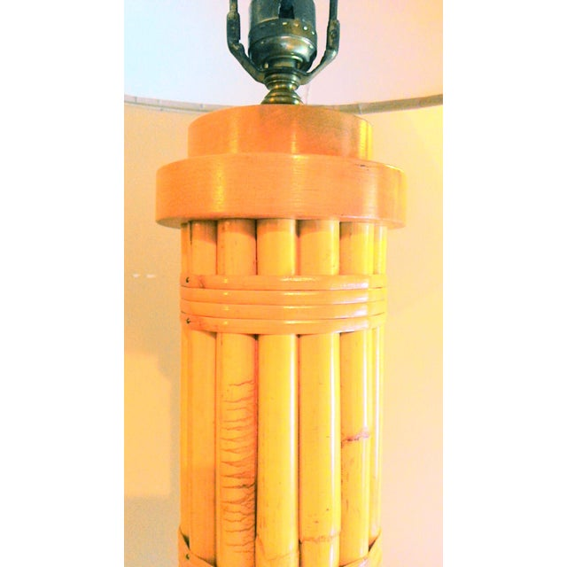 Vintage Regency Style Bamboo Lamp - Image 5 of 8