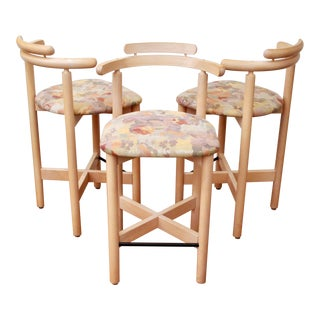 Gangso Mobler Postmodern Stools From Denmark, Set of 3