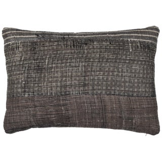Grey Patchwork Pillow For Sale
