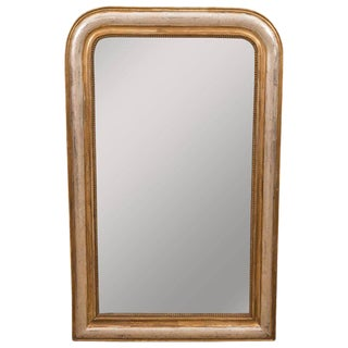 Giltwood and Silvered Louis Philippe Mirror