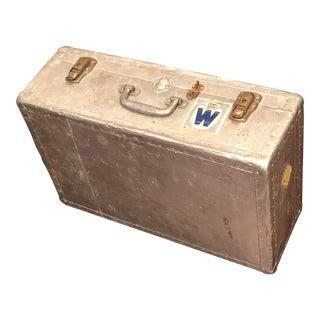 Vintage Aluminum Suitcase For Sale