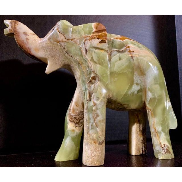 Vintage Large Afghan Oynx Elephant Sculpture For Sale - Image 13 of 13