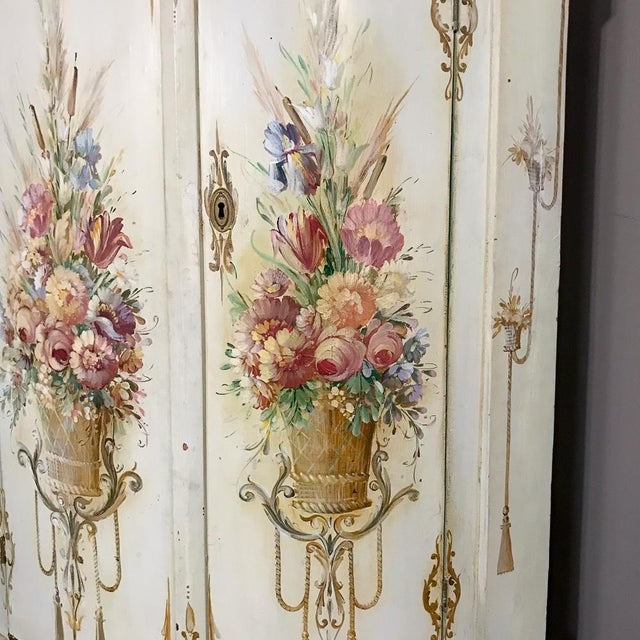 Wood 19th Century Swedish Painted Corner Cabinet For Sale - Image 7 of 13