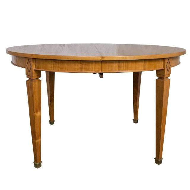 French 1940s Oval Dining Table For Sale - Image 11 of 11