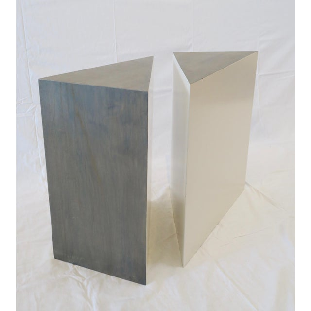 Triangle Side Tables - A Pair - Image 5 of 8