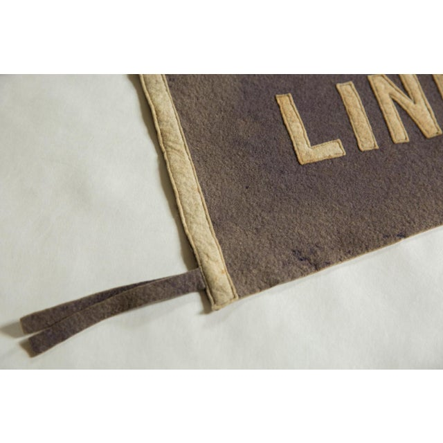 Old New House Rare Antique Lincoln University Felt Flag Pennant For Sale - Image 4 of 6
