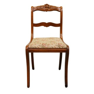 Duncan Phyfe Rose Back Dining Side Chair For Sale