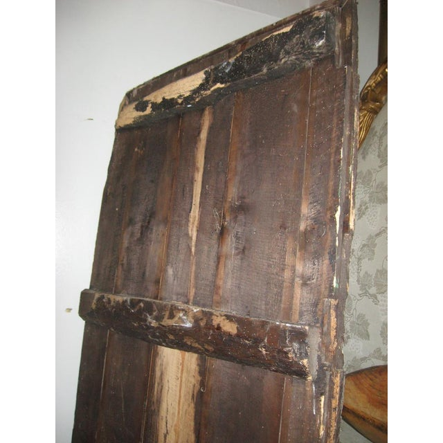 French 18th Century Louis XVI Painted Panel Door For Sale - Image 3 of 12