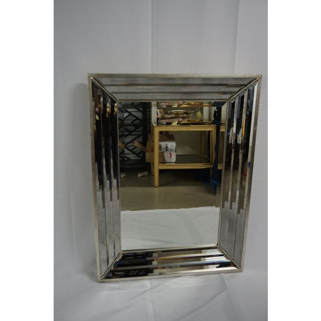 2000s Venetian Mirror With Beveled Frame For Sale - Image 5 of 5