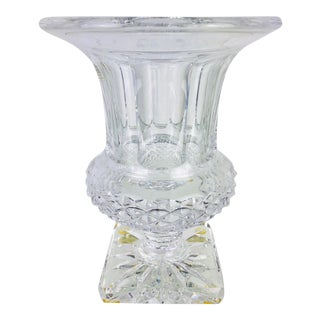 St. Louis Versailles Vase Clear Finely Cut Crystal For Sale