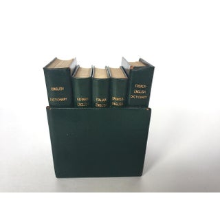 Vintage Leather Dictionaries - Set of 5 Preview