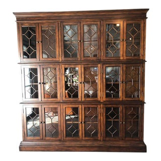 Traditional Custom Wall Unit 3-Tier Display Cabinet For Sale