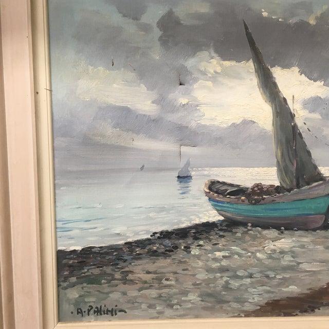 Vintage Nautical Oil Seascape - Image 6 of 11