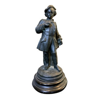 1950s Bronze Statue of Colonial Suitor For Sale