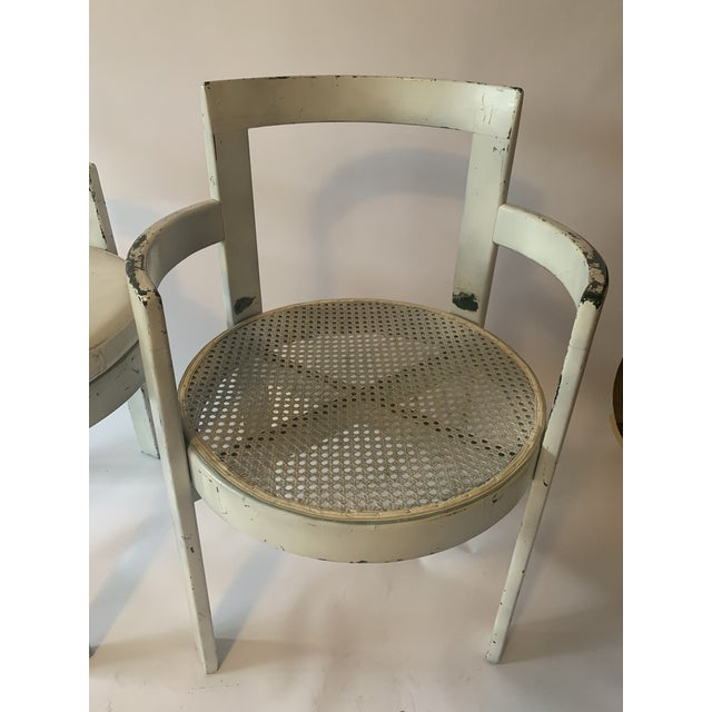 Rare and hard to find bentwood circular dining chair pair. Great bones. Caning in great condition. Ready for your updates!