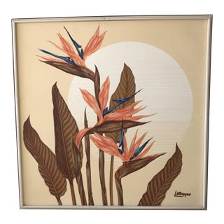 Vintage Birds of Paradise Painting by Letterman