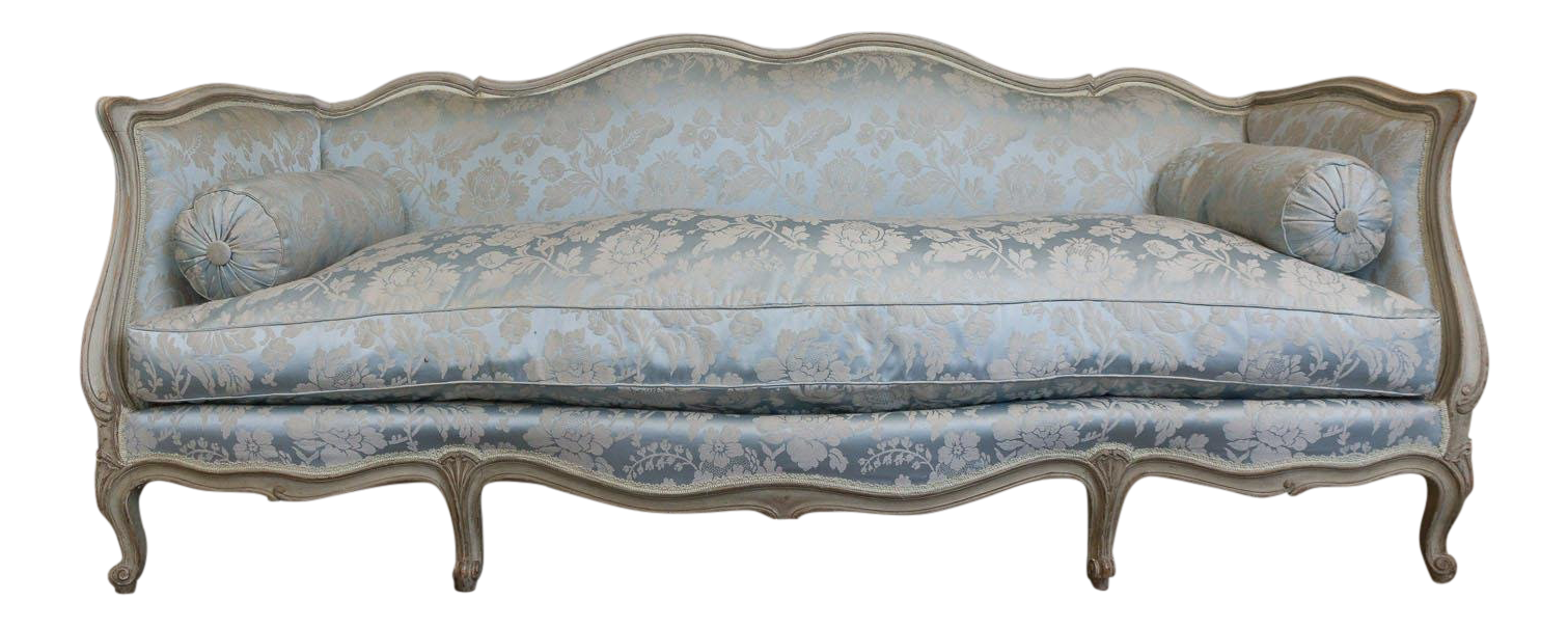 French Louis XV Style Sofa Attributed To Maison Jansen For Sale