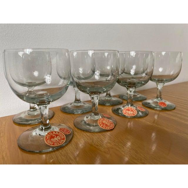 Per Lutken Holmegaard Vintage 1950s Holmegaard Denmark Elsinore Smoke Glass Cordials Stemware - Set of 8 For Sale - Image 4 of 10