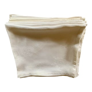 Antique Linen Napkins - Set of 7 For Sale