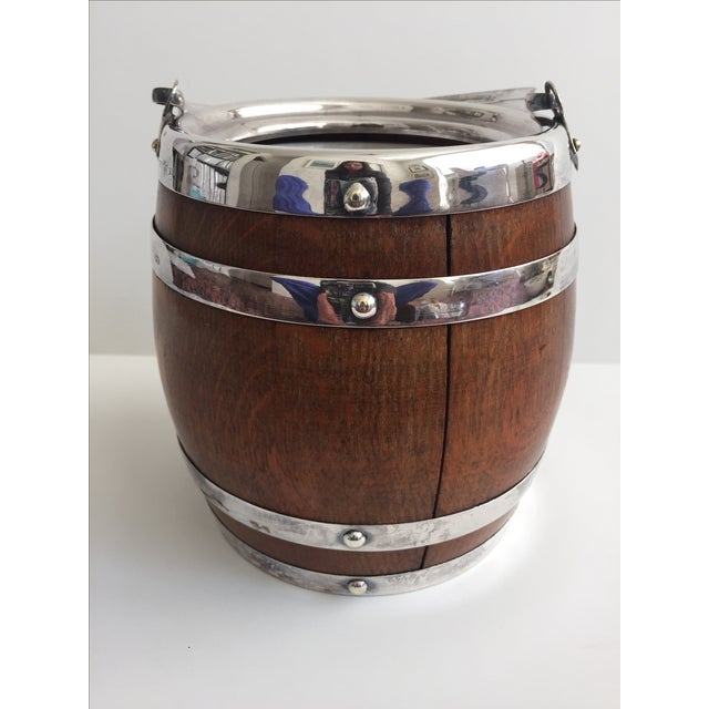 Antique Oak Biscuit Barrel - Image 3 of 5