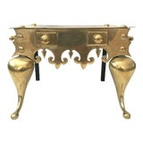 Image of 19th CenturyVintage English Brass Fireplace Footman For Sale