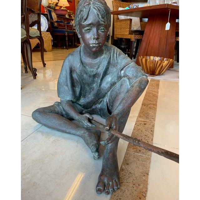 "1990s Susanne Vertel ""Dream Catcher"" Bronze Statue For Sale - Image 5 of 11"