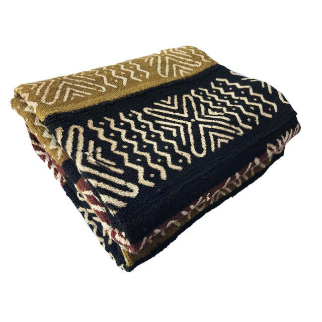 Superb Hand Woven, Hand Sewn and Hand Dyed by the men and women of the Bamana Tribe of Mali. bogolan (mud cloth) textile...