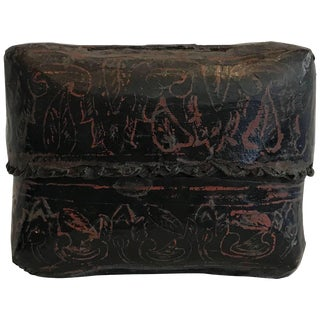 19th Century Hand-Painted Burmese Lacquer Lidded Box For Sale