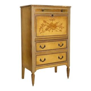 Vintage Baker Louis XV Style Drop Front Secretary Desk For Sale