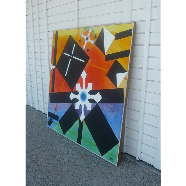 Geometric Abstract Painting by James McCray, 1966 For Sale - Image 10 of 10