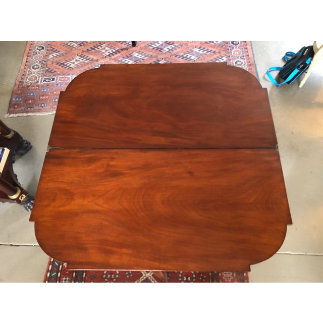 1780 Hepplewhite Inlayed Mahogany Game Table For Sale - Image 10 of 13