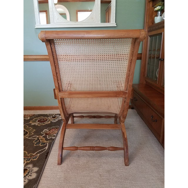 Antique Rattan Plantation Chair For Sale - Image 4 of 6