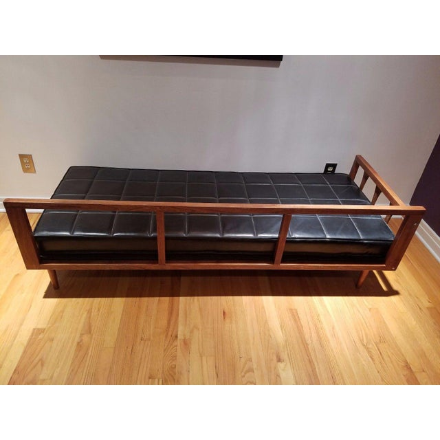 Mid Century Modern Vinyl Daybed / Loveseat - Image 7 of 11