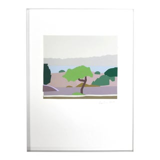 """Landscape After Uglow"" Framed Original Collage"